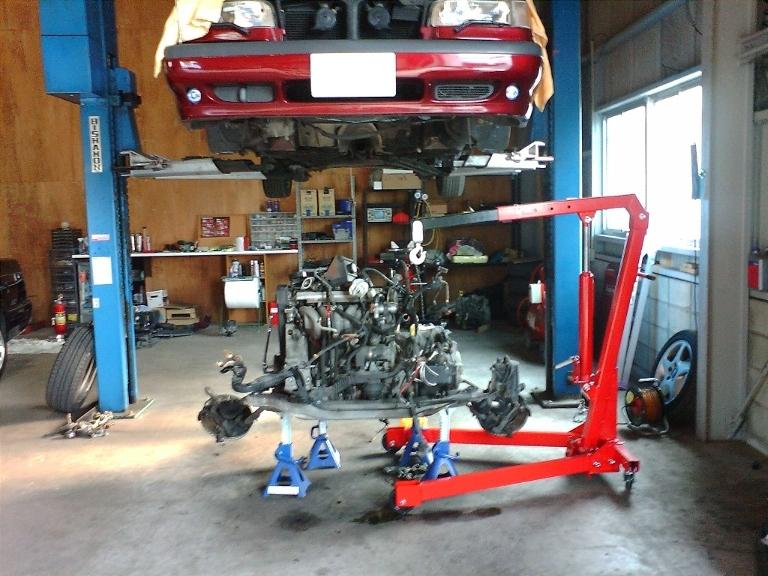 850エンジン リアクランクシール交換
